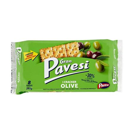 Gran Pavesi Crackers alle Olive - 280 gr