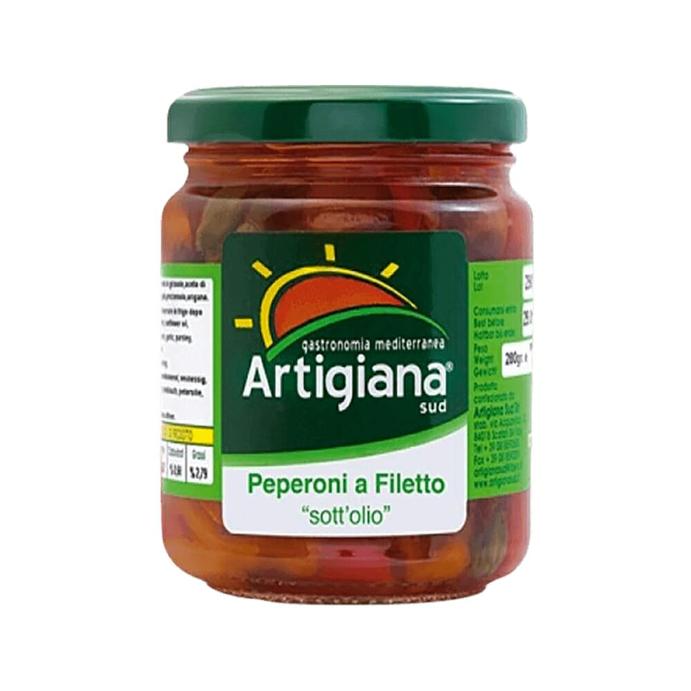 Artigiana Sud Peperoni a Filetti sott'olio - 280 gr