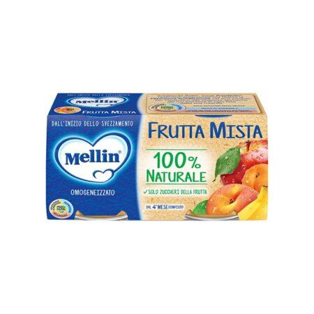 Mellin Omogeneizzato Frutta Mista - 2 x 100 gr