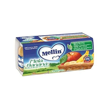 Mellin Omogeneizzato Mela e Banana - 2 x 100 gr