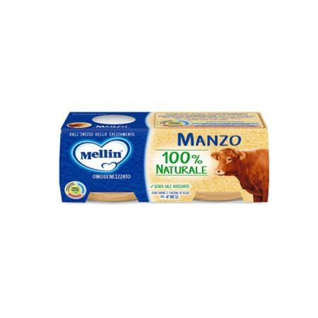 Mellin Omogeneizzato Manzo - 2 x 80 gr