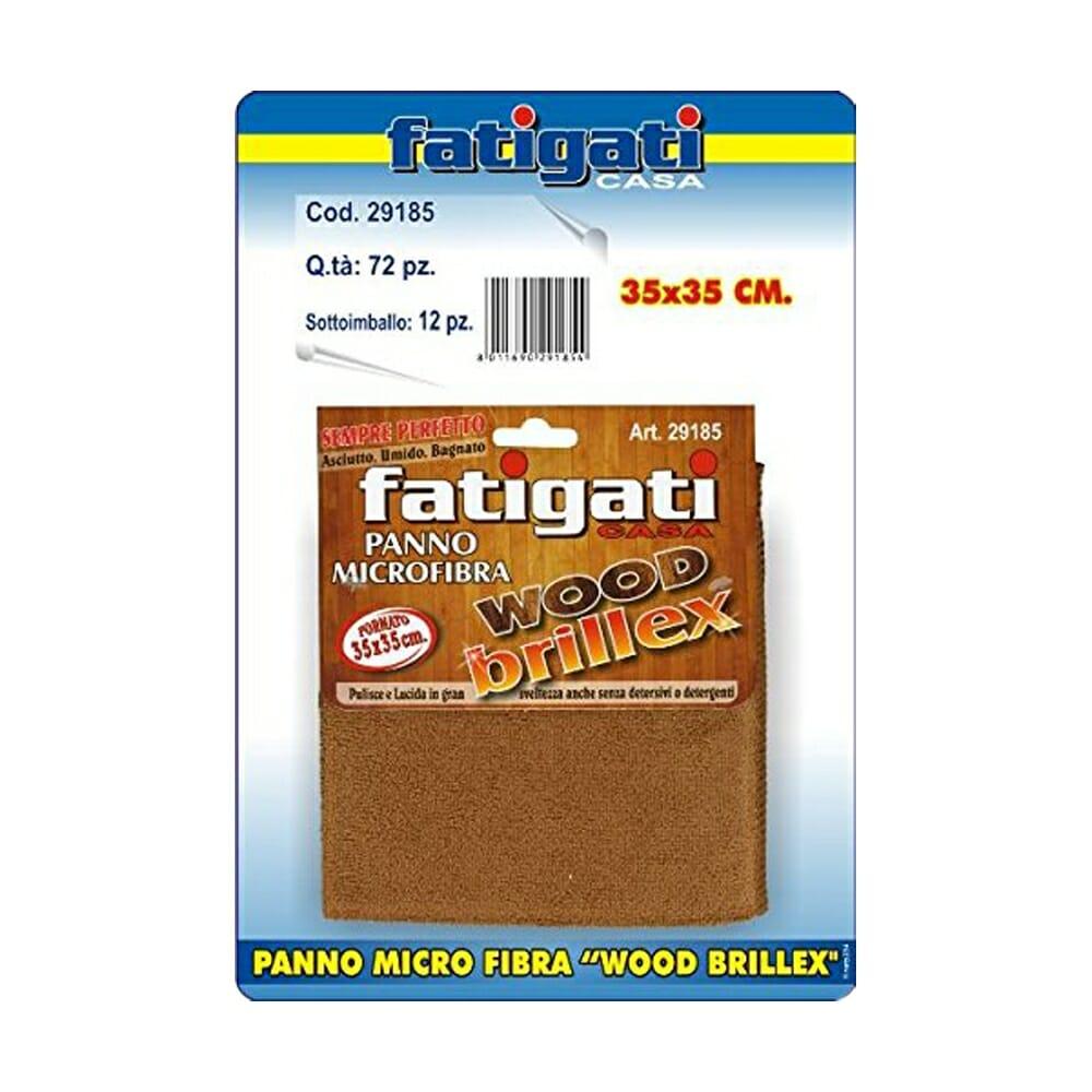 Fatigati Panno Microfibra Wood Brillex - 35 x 35 cm