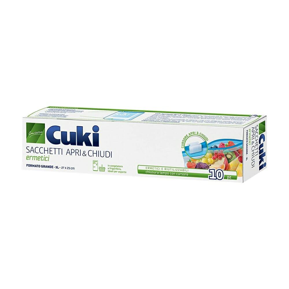 Cuki Sacchetti Apri & Chiudi 3 Litri - 10 pz