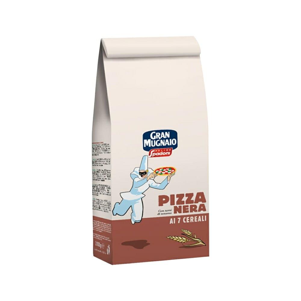 Gran Mugnaio Spadoni Farina per Pizza Nera ai 7 Cereali - 1 Kg