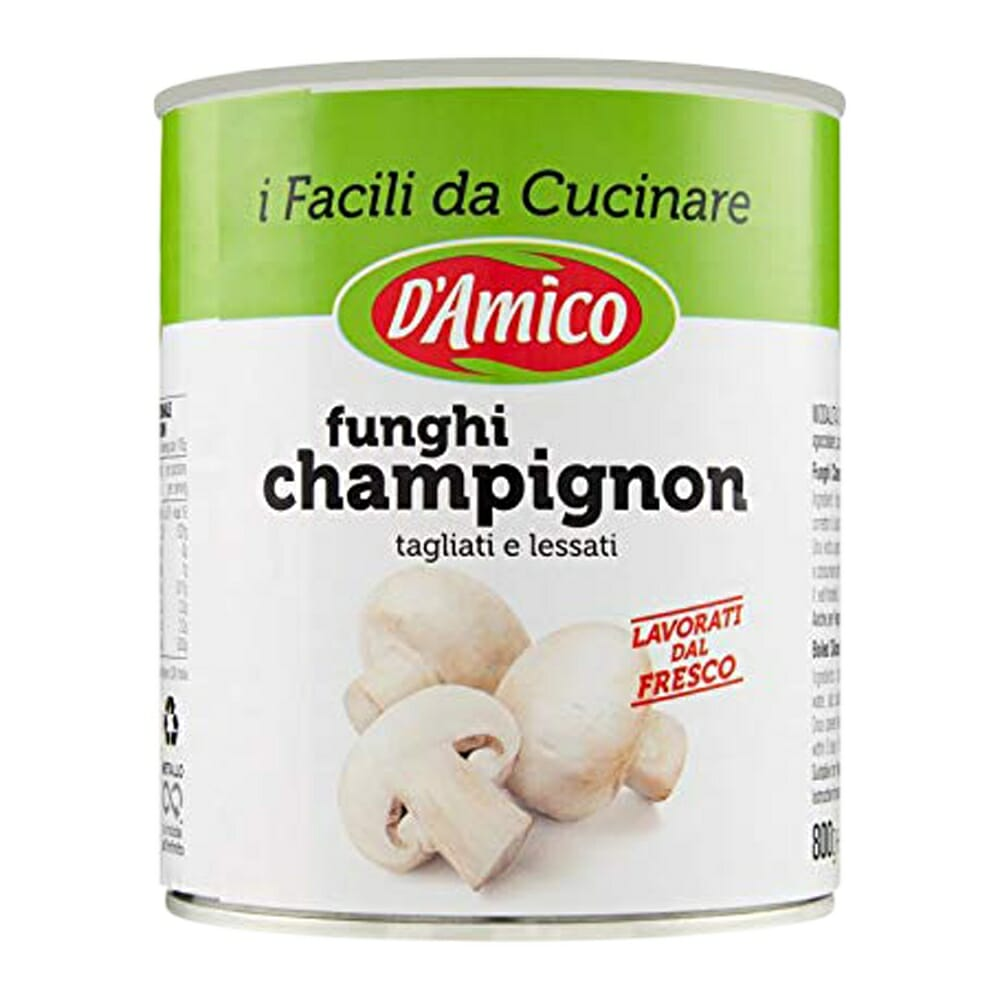 D'Amico Funghi Champignon Tagliati - 400 gr