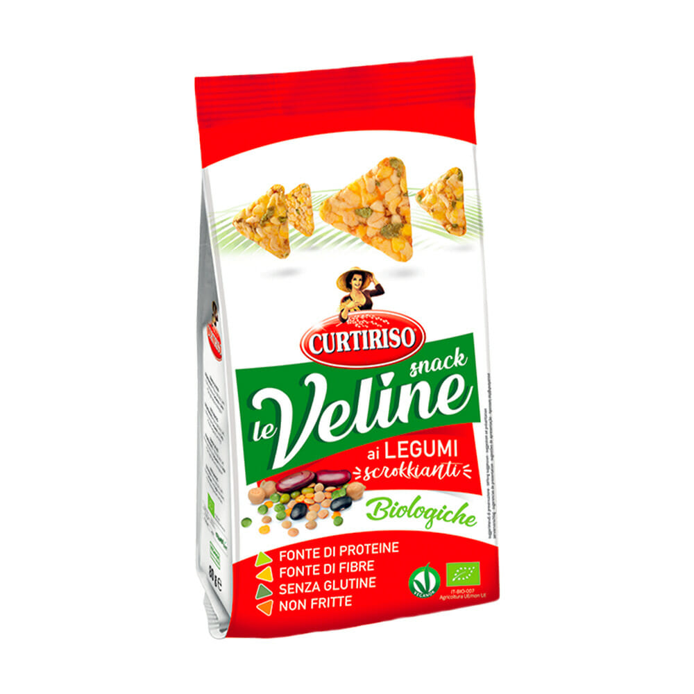 Curtiriso Veline Snack di Mais e Legumi Bio - 80 gr