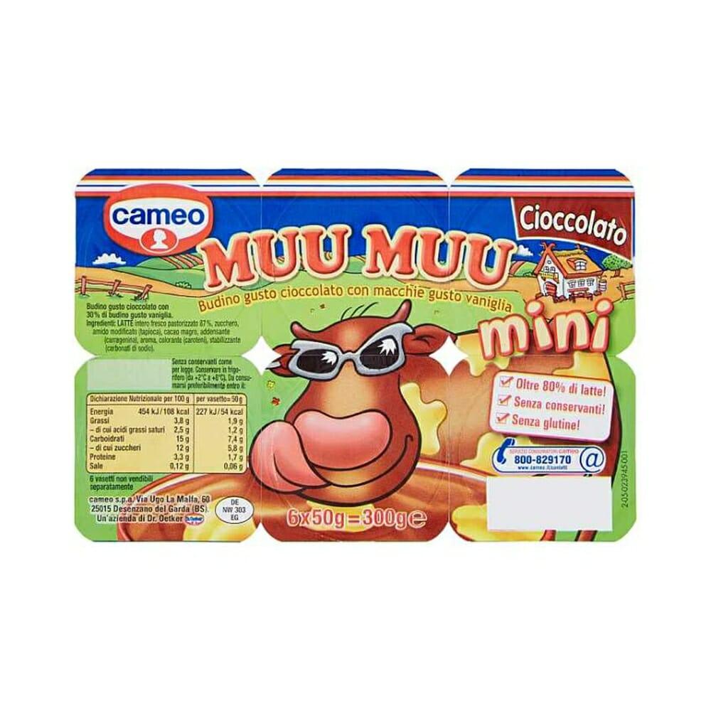 Cameo Muu Muu Mini Cioccolato - 6 x 50 gr