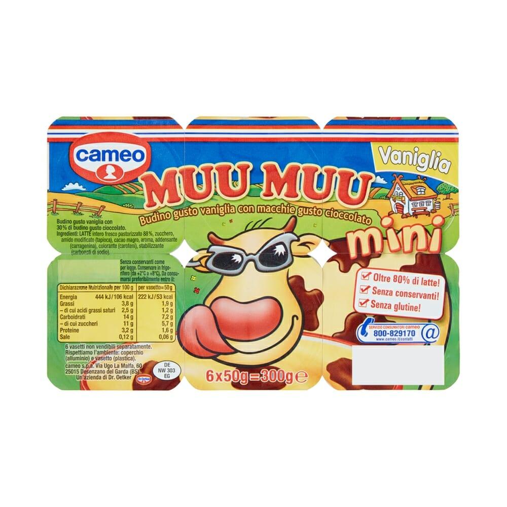 Cameo Muu Muu Mini Vaniglia 6 x 50 gr